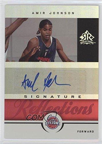 2005 Signature Reflections (Amir Johnson #62/100 (Basketball Card) 2005-06 Reflections - Signature Reflections - Red #SR-JO)