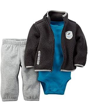 Carter's Baby Boy3 Pc Sherpa Cardigan Set (3 months)