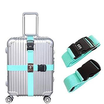 Symboat Les courroies d/étachables demballage de courroie de bagage de voyage de croix courroies de s/écurit/é de sac de valise avec la serrure