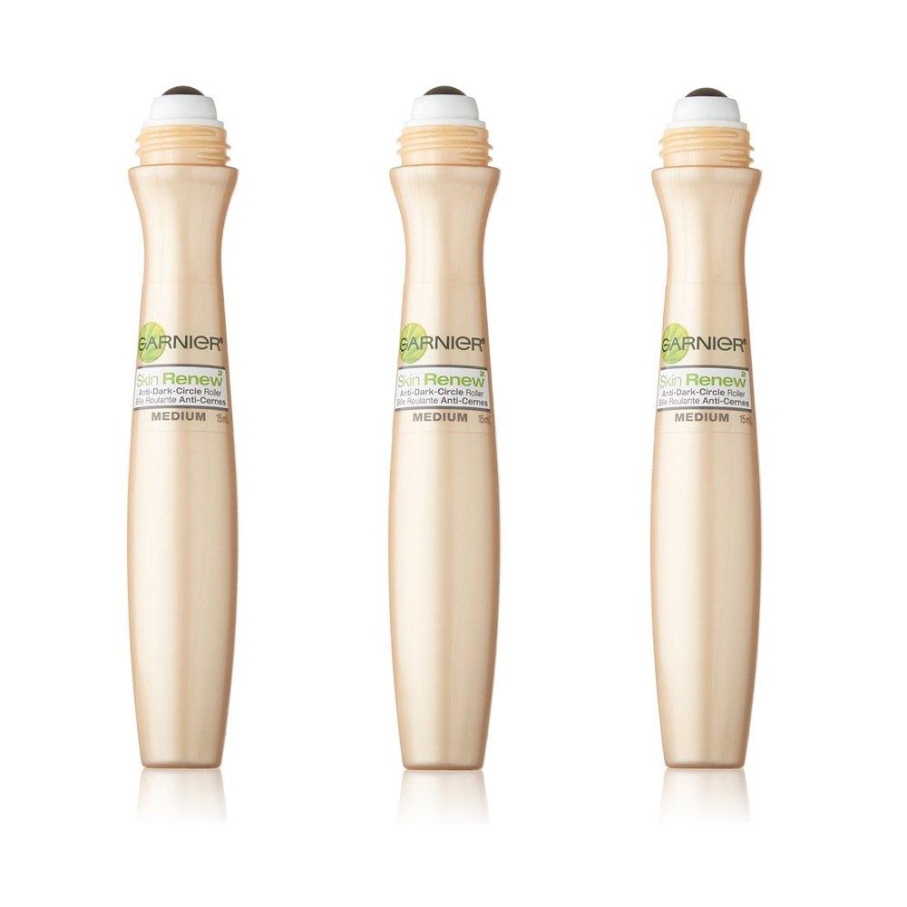 Garnier SkinActive Clearly Brighter Sheer Tinted Eye Roller, Light/Medium, 3 Count by Garnier