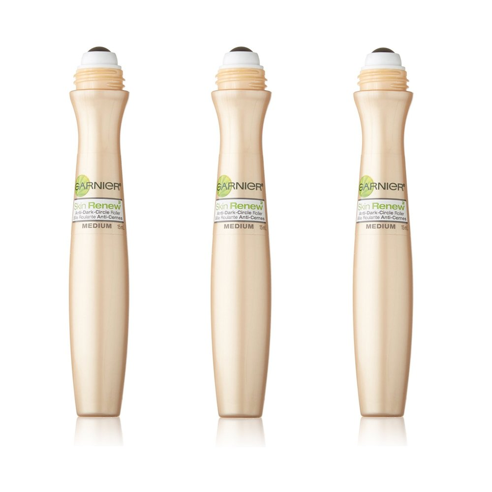 Garnier SkinActive Clearly Brighter Sheer Tinted Eye Roller, Light/Medium, 3 Count