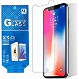 TJK's Screen Protector for iPhone X Premium Quality 9H Tempered Glass Screen Protector, Glass Screen Film