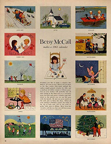 Betsy McCall makes a 1961 calendar paper doll page 1 1961