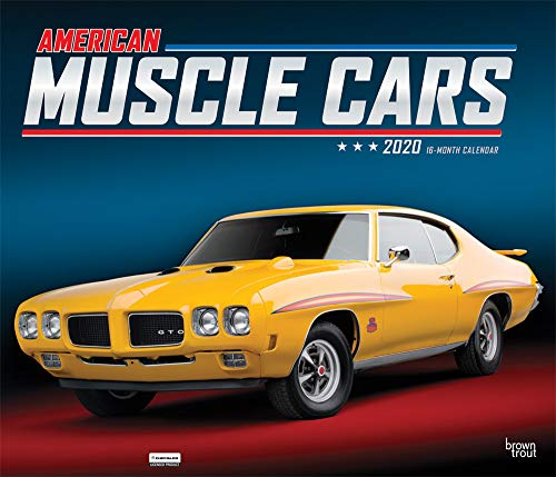 American Muscle Cars 2020 12 x 14 Inch Monthly Deluxe Wall Calendar with Foil Stamped Cover, Racing Ford Chevrolet Chrysler Oldsmobile Pontiac