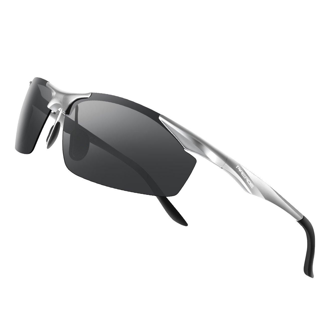 PAERDE Mens Sports Polarized Sunglasses for Men Lightweight Glasses