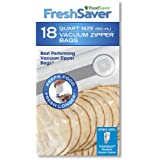 FoodSaver Quart-Sized Vacuum Zipper Bags with unique multi layer construction, BPA free, Pack of 18