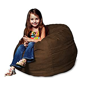 Chill Sack Bean Bag Chair: Large 2' Memory Foam Furniture Bean Bag - Big Sofa with Soft Micro Fiber Cover - Chocolate