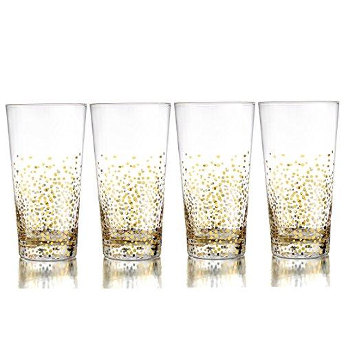 Gold Luster Hi-Ball Glass (Set of 4) Hi Ball Glass Set