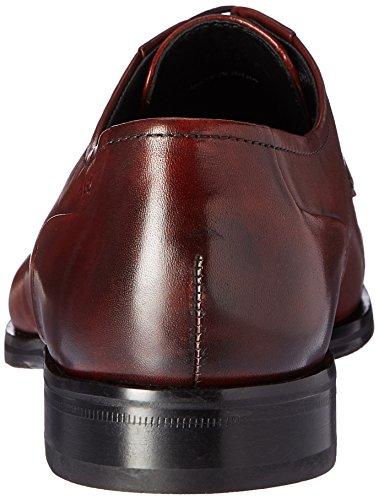 Hugo De Hugo Boss Hombres Temptation Lace Up Derby En Nappa Leather Work Rust / Copper