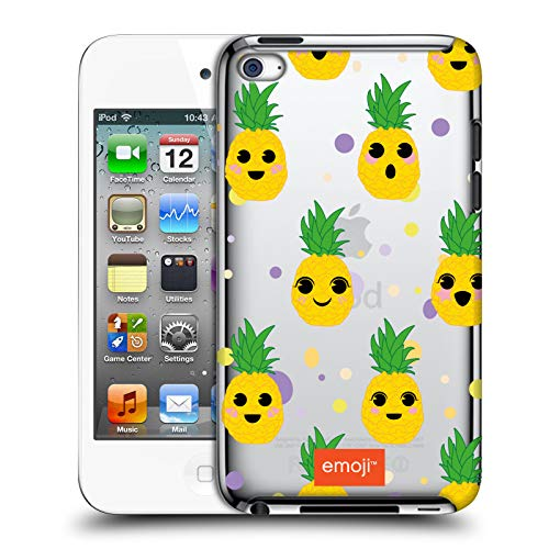 Official Emoji Kawaii Cactus and Pineapple Hard Back Case Compatible for Apple iPod Touch 4G 4th Gen (Ipod 4 Pineapple Gen Case)