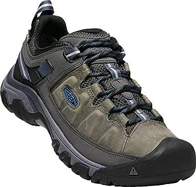 KEEN Men's Targhee iii Leather wp-m Hiking Shoe, Steel Grey/Captains Blue, 7 M US
