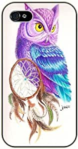 LJF phone case Dreamcatcher, purple owl - iPhone 5C black plastic case / Inspiration