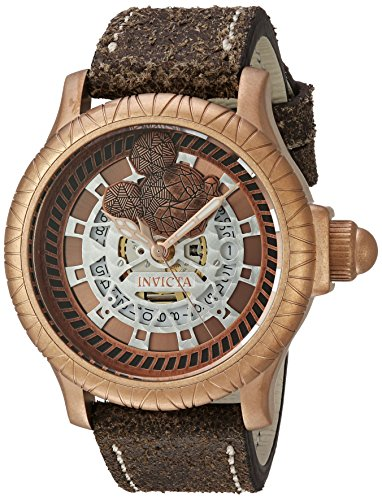 Invicta Men's 'Disney Edition' Swiss Quartz Stainless Steel and Silicone Casual Watch, Color:Brown (Model: 22741)