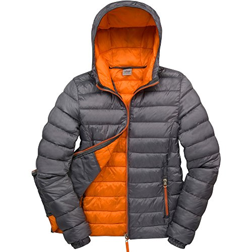Result Urban Outdoor Ladies Urban Snowbird Hooded Coat Grey/ Orange