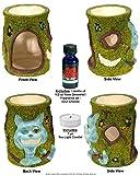 Nose Desserts Magic Cheshire Cat in Alice Wonderland Fragrance Oil warmer-burner includes 1-bottle of ½-oz Brand Fragrance Oil and 1-Tea Light candle