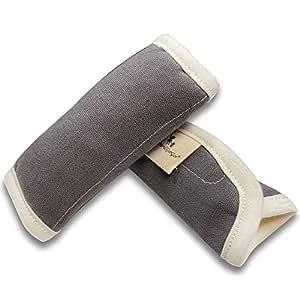 Gray Extra Plush 100/% Cotton DorDor /& GorGor Organic Baby Seat Belt Cushion