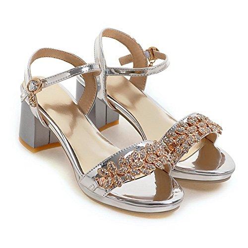AdeeSu Womens Studded Dress Travel Urethane Sandals SLC04042 Silver aizWZsKzD