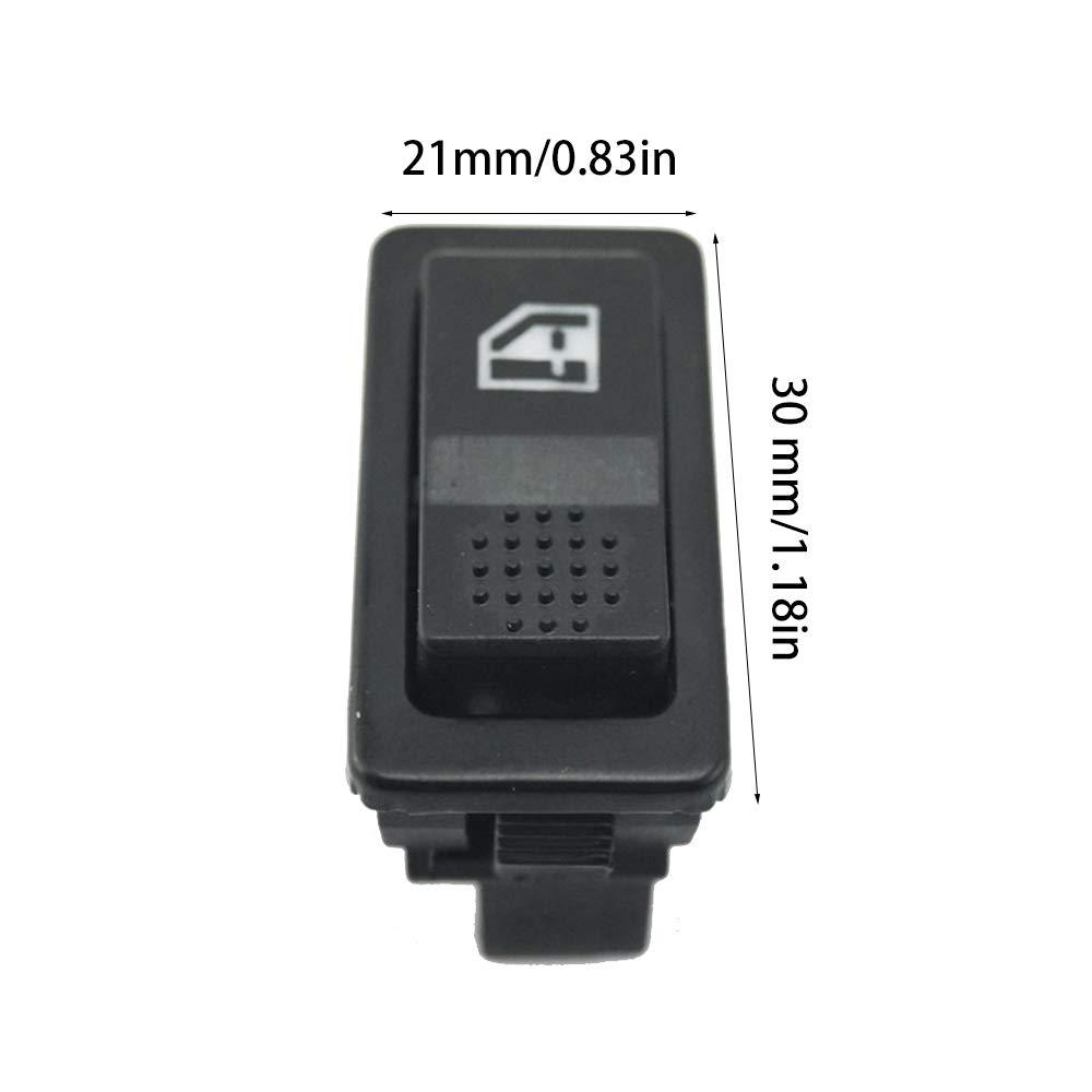 FairytaleMM Interruptor de elevalunas electrom/óvil universal de 5 pines 12V 24V 20A con indicador de iluminaci/ón Accesorios para autom/óviles verde y negro