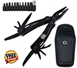 Boot Knife Holster Best Deals - Multitool, Compact Durable Pocket Knife, Plier, Screwdriver Tool Set with Screwdriver bits and Nylon Sheath. Perfect Kit for Survival, Emergency, Camping, Outdoor Use