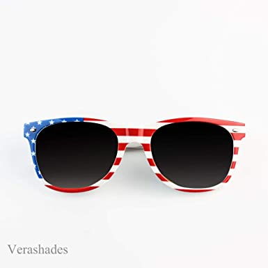 78943d55f3ec Image Unavailable. Image not available for. Color  AMERICAN FLAG USA PRINT Vintage  SUNGLASSES MIRROR LENS STARS STRIPES PATRIOTIC