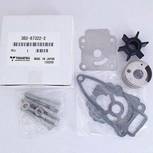 Tohatsu 8hp /& 9.8hp 4-Stroke Outboard Service Kit Impeller Spark Plug Filter