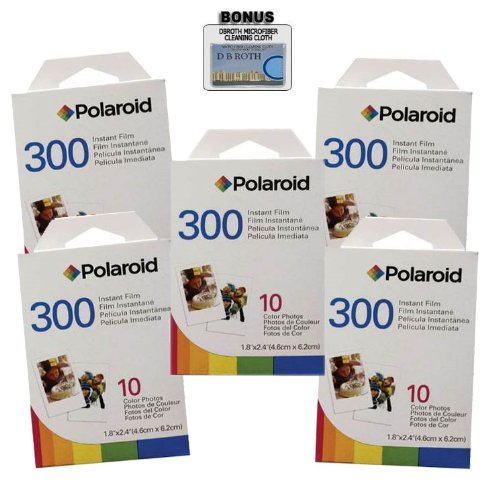 Polaroid PIF-300 Instant Film for 300 Series Cameras - 50 prints