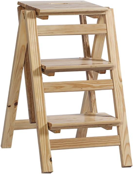 ZPWSNH Escalera Plegable de 3 escalones Escalera de Madera Maciza Escalera Vertical para Uso doméstico Escalera de Escalada Interior multifunción Taburete pequeño Taburete (Color : B): Amazon.es: Hogar