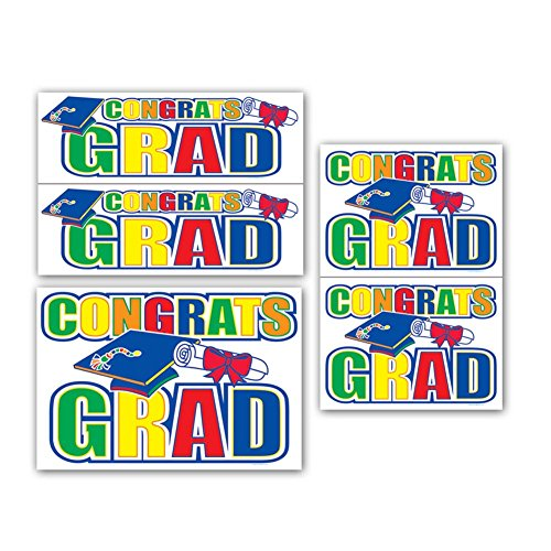 - Congrats Grad Auto-Clings Party Accessory (1 count) (5/Pkg)