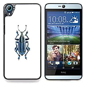 """Beetle Bug minimalista Modelo blanco"""" - Metal de aluminio y de plástico duro Caja del teléfono - Negro - HTC Desire 626 626w 626d 626g 626G dual sim"""