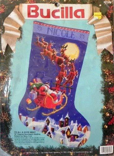 Bucilla Needlepoint Stocking to All a Good Night Kit