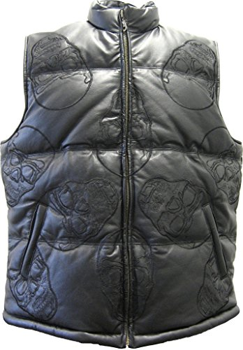 mens-genuine-leather-vest-unique-skull-embroidery-design-padded-front-zip