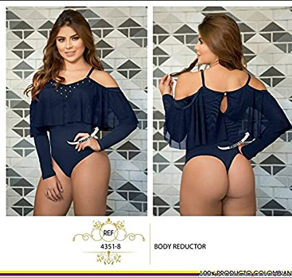 Moda Colombiana Womens Body Shaper Blouse Blusa Fajas Colombianas Ab Control Ref 4351 ONE SIZE (