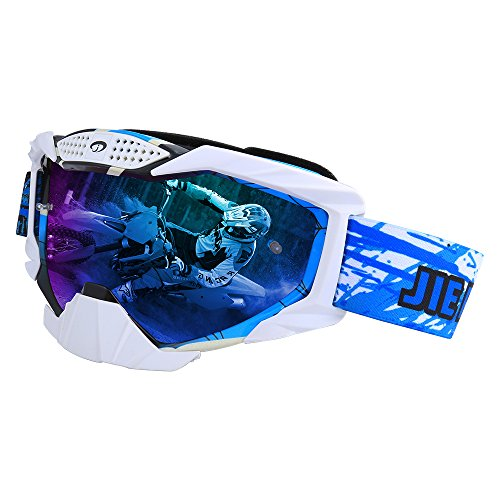 (Motocross Goggles, Windproof Elastic Frame Dustproof Anti-Scratch Lens, Motorcycle Bicycle Snowboard Ski Mountaineering Rock Climbing Bicycle Adult)