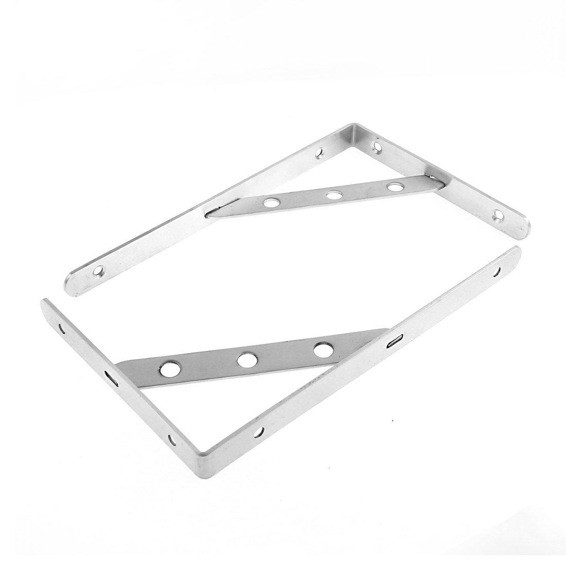 2 piezas de acero inoxidable 24cmx15cm L Libro en forma de mercancías soporte de repisa - - Amazon.com