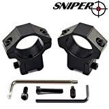 Sniper Dovetail 1″ Scope Rings for .22 Airgun Air Rifle; Medium Profile; Fits 11mm – 15mm Dovetail Rails Review