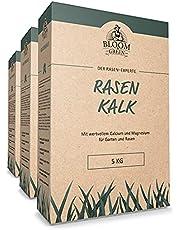 Graskalk Bloom & Green 5 kg - 15 kg I Tuin kalk voor duurzame bodemmoestel & kruimelstructuur I Koolzuurzuur natuurkalk voor een hogere opbrengst I Voorkomt mosvorming en neutraliseert bodemzuur