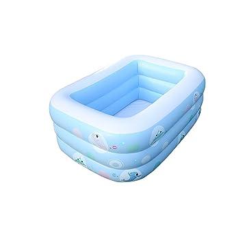 Infante Infantil Bomba Eléctrica Piscina Inflable Familia Bebé Adulto Niños Piscina De Padel Grueso Inicio Ocean Ball Pool Azul (Tamaño : 200cm): Amazon.es: ...