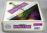 NOLA Traditional King Cake, 1.5lb HUGE MARDI GRAS PARTY PACK King Cake ORNAMENT, WORLD FAMOUS BOURBON STREET HURRICANE MIX! 12 BEADS, 12 DABLOONS, 12 Mardi Gras Stickers, 1 KING CAKE BABY