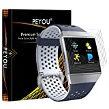 PEYOU [6 Pack] Screen Protector Compatible for Fitbit Ionic Smartwatch 2017, Full Coverage HD Screen Protector Film