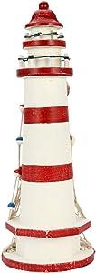 IMIKEYA Wooden Lighthouse Nautical Lighthouse Garden Decorative Lighthouse Ocean Sea Beach Lighthouse Decoration for Patio Yard Outside Lawn