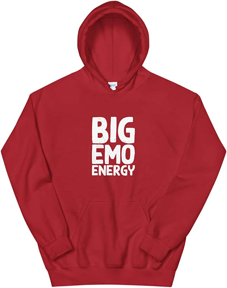 Gift for Her Big Emo Energy Big Emo Energy Pastel Goth Meme Funny Emo Music Gift for Him Sweatshirt Hoodie