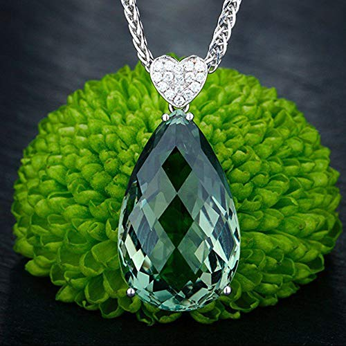 Women Chain Natural Fashion For Gemstone Green Jewelry Pendant