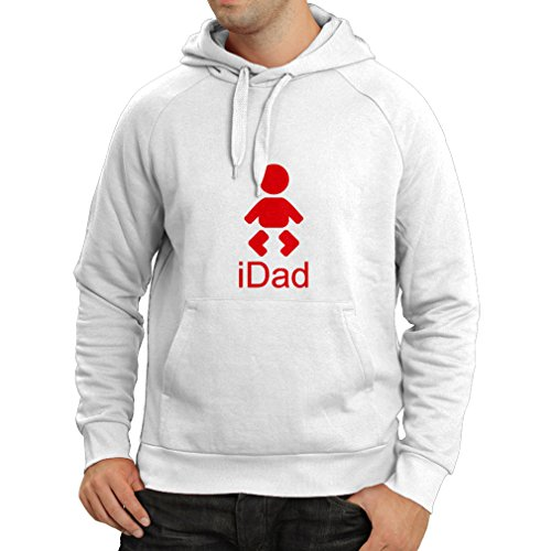 Hoodie iDad Best Dad Ever Gifts For him Father Day Gifts Best Dad Trophy (X-Large White - Day Online Shopping Night Glasses