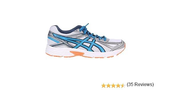 adidas Asics Patriot 7 Zapatilla de Running Caballero, Blanco/Azul ...