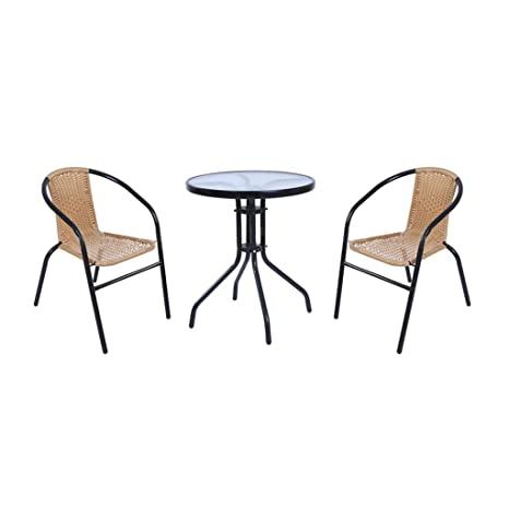 Fine Amazon Com Featurepoly Rattan Garden Furniture Dining Table Inzonedesignstudio Interior Chair Design Inzonedesignstudiocom