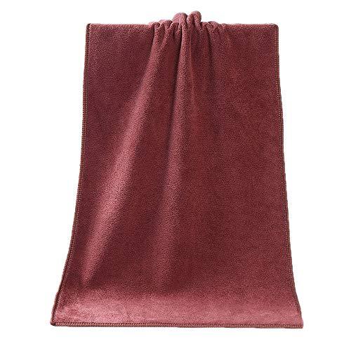 Alelife 1PC Bathing Towel Shower Absorbent Superfine Fiber Soft Comfortable Bath Towel (Coffee)