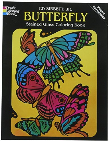 Dover Butterfly Stained Glass Coloring Book]()