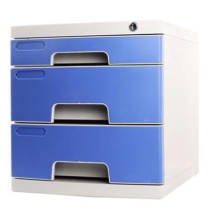 archivadores Archivador de cajón archivador plástico para Oficina de Escritorio Acabado con archivadores de Cerradura