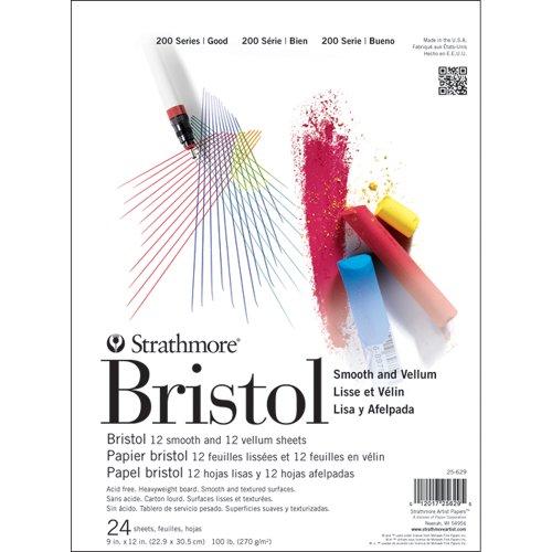 strathmore-bristol-smooth-vellum-paper-pad-9x12-12-smooth-12-vellum-sheets