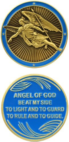 Jesus Christ Bible Religious Angel Of God - Good Luck Double Sided Collectible Challenge Pewter Coin